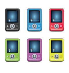 Mp3 Player Set vector image vector image