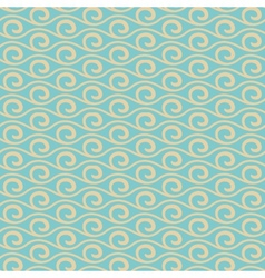 Vintage wave seamless pattern tiling vector