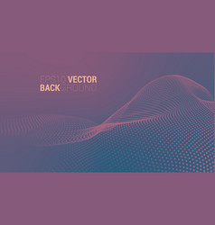 abstract futuristic digital landscape vector image