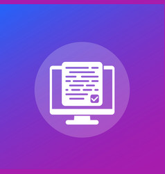Accepting new terms or conditions icon vector