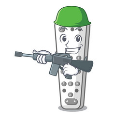 army character remote control for media center vector image