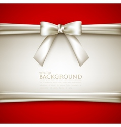 background with white bow vector image