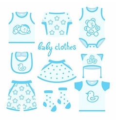 baclothes vector image