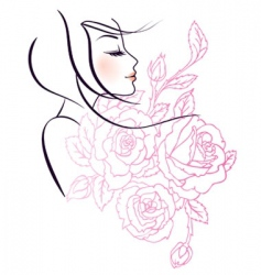 beauty and fashion vector image