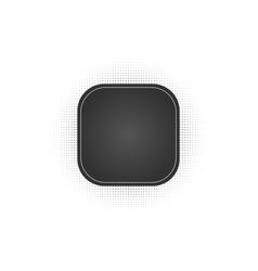 Black abstract square frame halftone dots logo vector