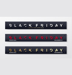black friday premium banners or headers set vector image