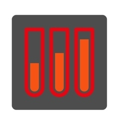 Blood Analysis Rounded Square Button vector image
