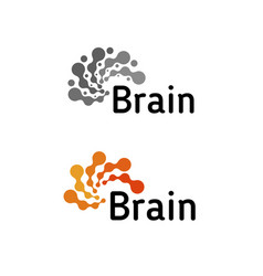 Brain logo silhouette design template vector