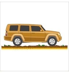 brown suv car off-road 4x4 icon colored vector image