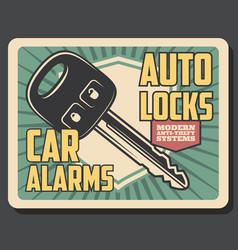 Car alarm security remote control key vector