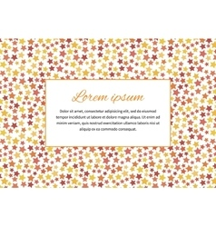 Card cover with stars and text space a4 size vector image
