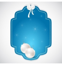 Christmas rectangular sticker made in the style vector image vector image