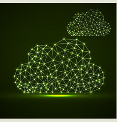 clouds of glowing lines and dots abstract vector image