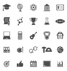 College icons on white background vector image
