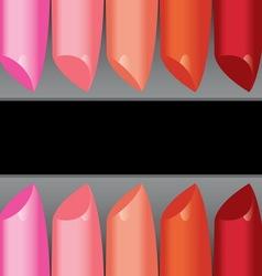 colorful lipstick label board vector image