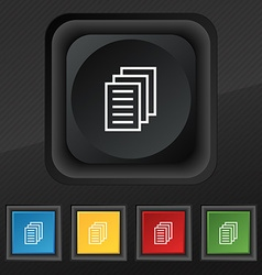 Copy file Duplicate document icon symbol Set of vector