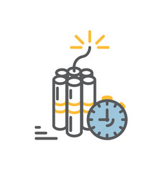 dinamite with timer clock vector image