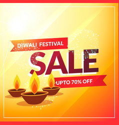 diwali discount sale banner poster template vector image