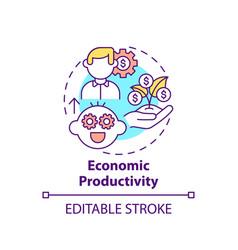 Economic productivity concept icon vector