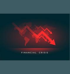 Economy stock market downfall financial crisis vector