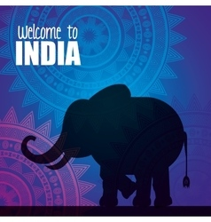 Elephant india country design vector