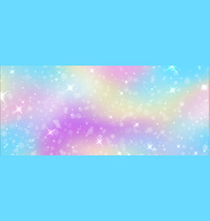 fantasy background rainbow unicorn sky texture vector image