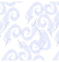 Feather pattern on transparent background vector image