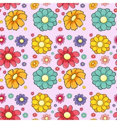 Flowers seamless vector image