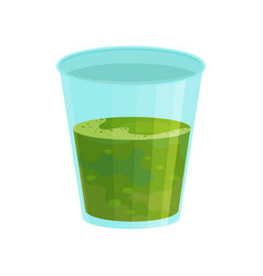 glass of smoothie with spirulina seaweed fresh vector image