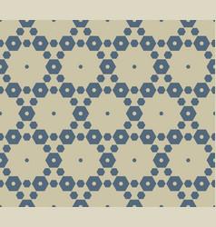 golden geometric hexagons seamless luxury pattern vector image