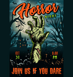Halloween vintage colorful poster vector