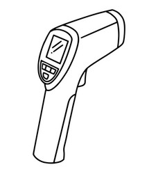 hand drawn thermometer infrared doodle icon vector image