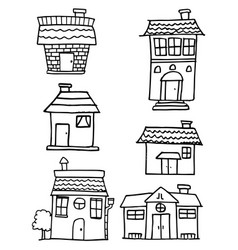 House set collection hand draw vector