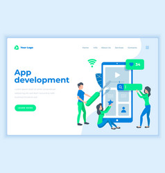 landing page template application development vector image