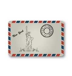 Letter from New York with Statue of Liberty vector
