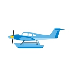 Light aircraft single propeller blue plane vector image