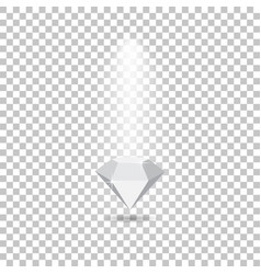 light effects fall on the diamond making glare vector image