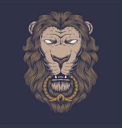 lion head vector image