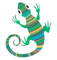 lizard african design vector image
