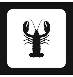 Lobster icon simple style vector image
