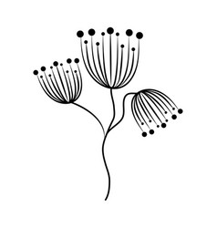 Minimalist tattoo flowers delicate floral vector