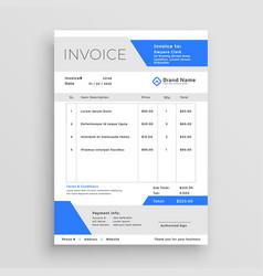 Modern business invoice template design vector