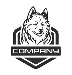 modern husky dog logo vector image