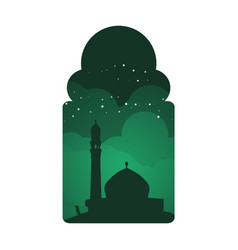 mosque round classic window view design vector image