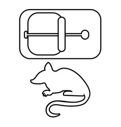 mousetrap icon outline line style vector image