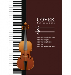 Music brochure cover vector