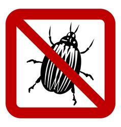 No bug sign vector image