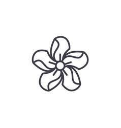 oleander line icon concept oleander flat vector image