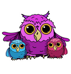 owl with owls vector image