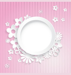 Paper flowers with ring vector